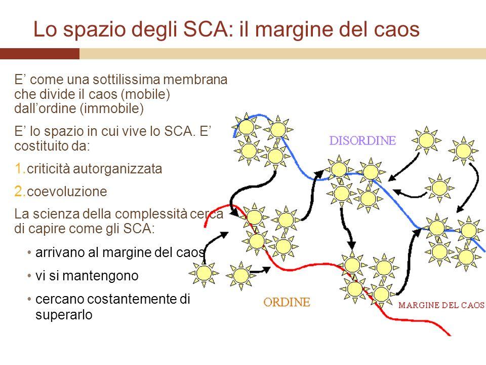 Lo spazio degli SCA: il margine del caos