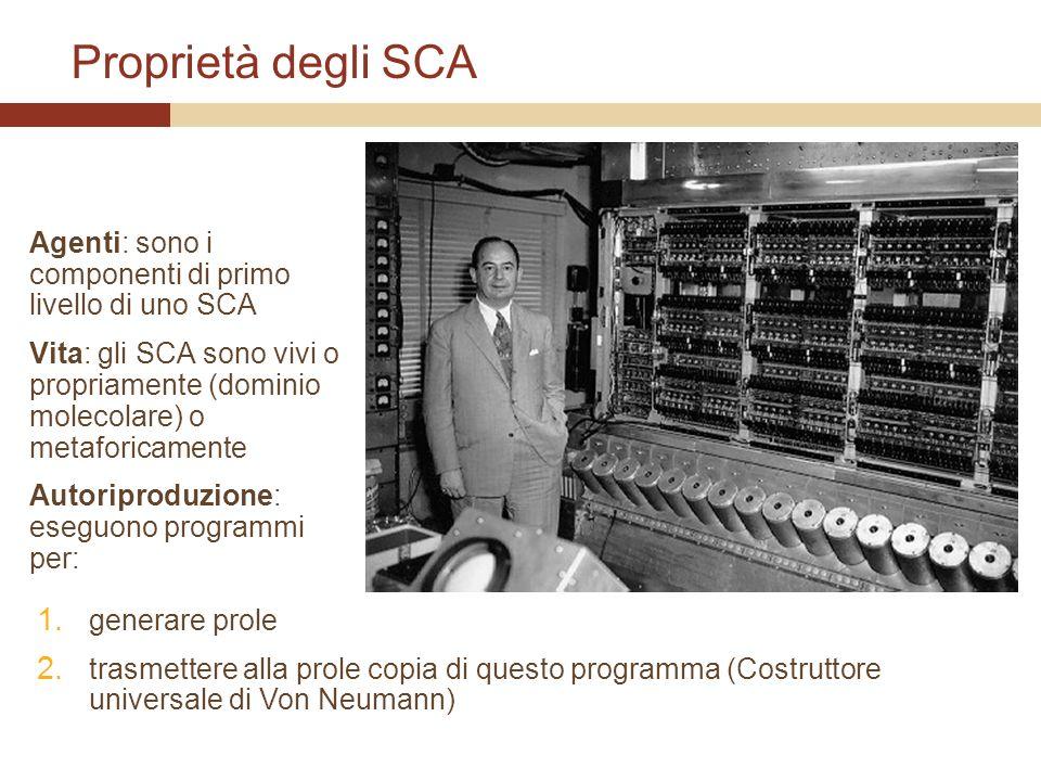 Proprietà degli SCA Agenti: sono i componenti di primo livello di uno SCA.