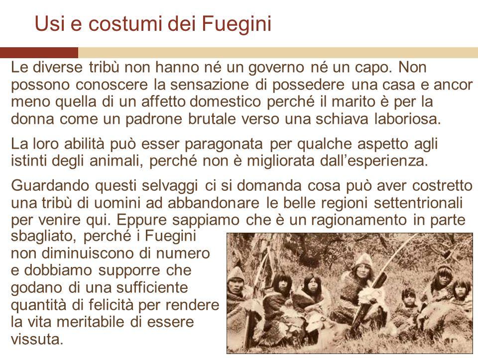 Usi e costumi dei Fuegini