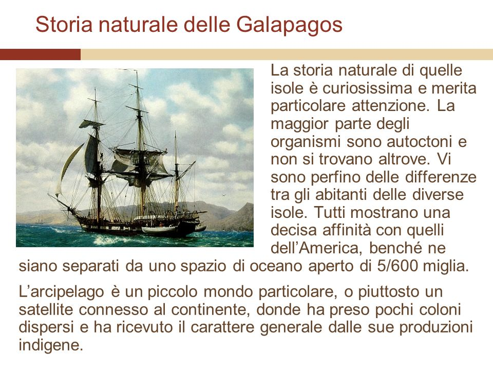 Storia naturale delle Galapagos