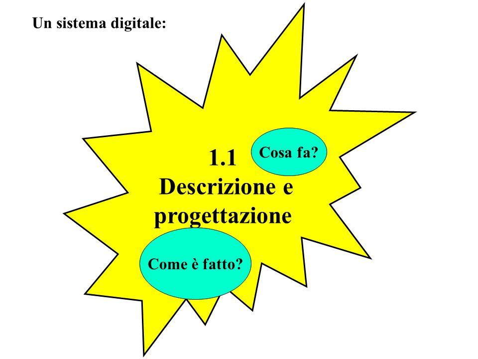 1.1 Descrizione e progettazione