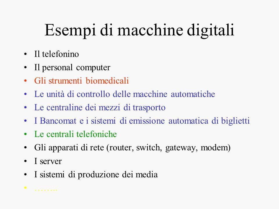 Esempi di macchine digitali