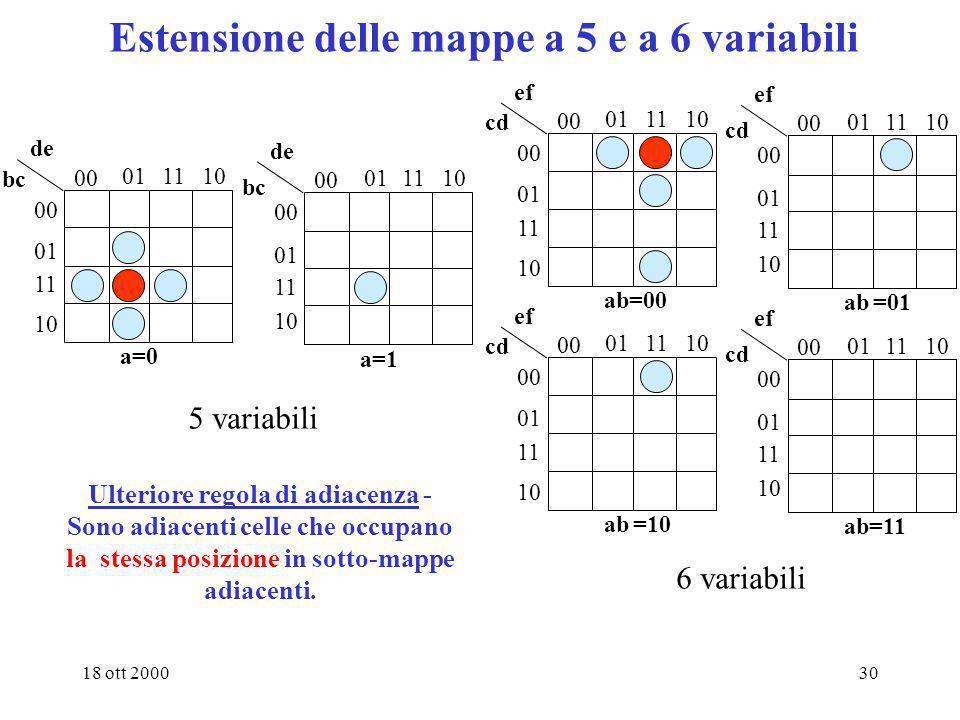 Estensione delle mappe a 5 e a 6 variabili