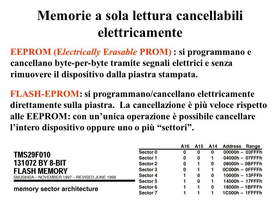 Memorie a sola lettura cancellabili elettricamente