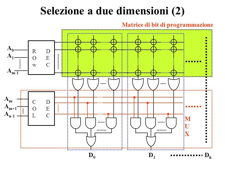 Selezione a due dimensioni (2)