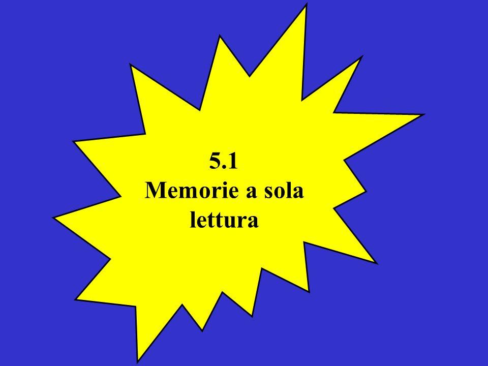 5.1 Memorie a sola lettura