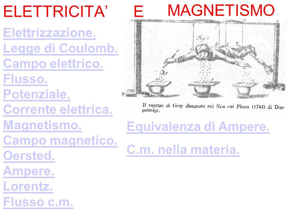 ELETTRICITA' E MAGNETISMO Elettrizzazione. Legge di Coulomb.