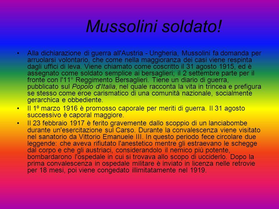 Mussolini soldato!