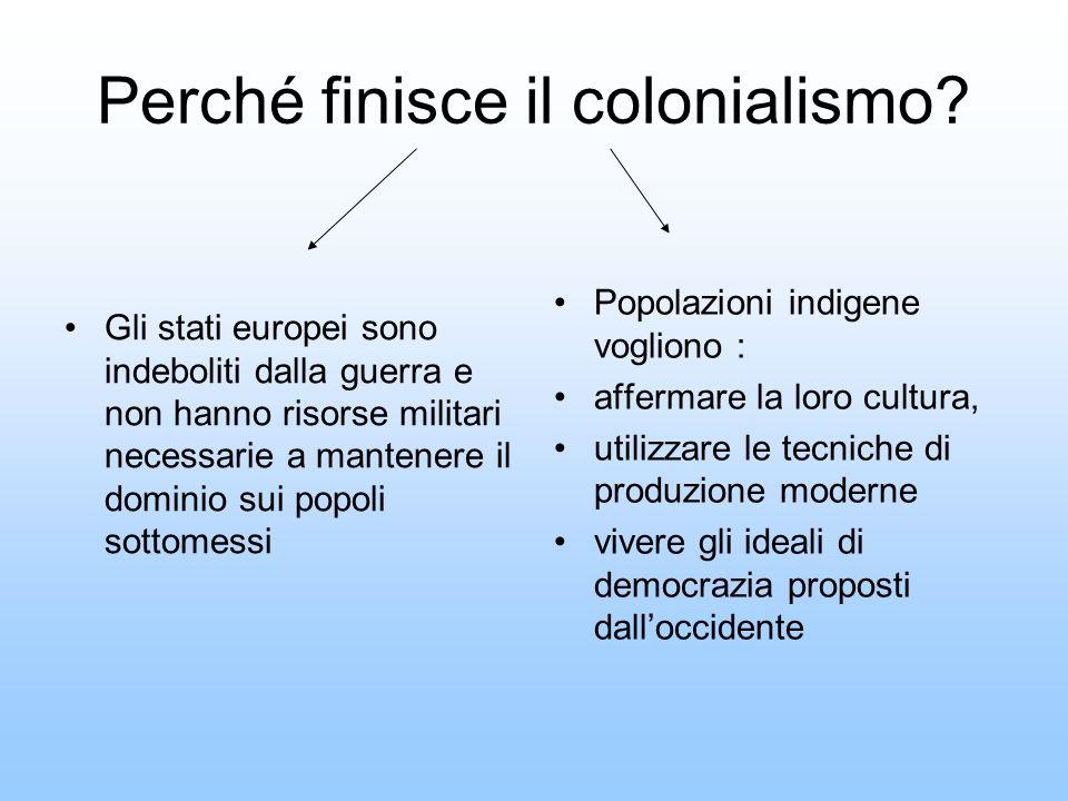 Perché finisce il colonialismo