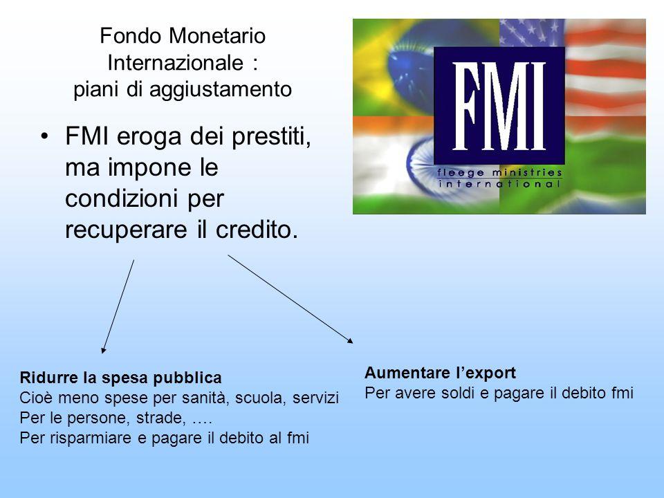 Fondo Monetario Internazionale : piani di aggiustamento