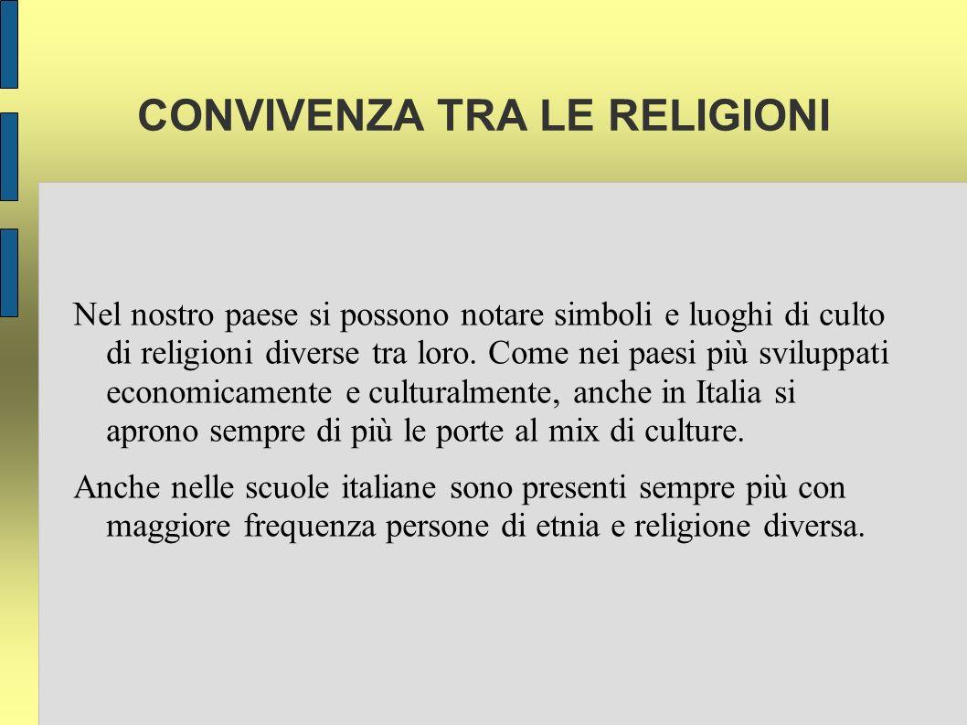 CONVIVENZA TRA LE RELIGIONI