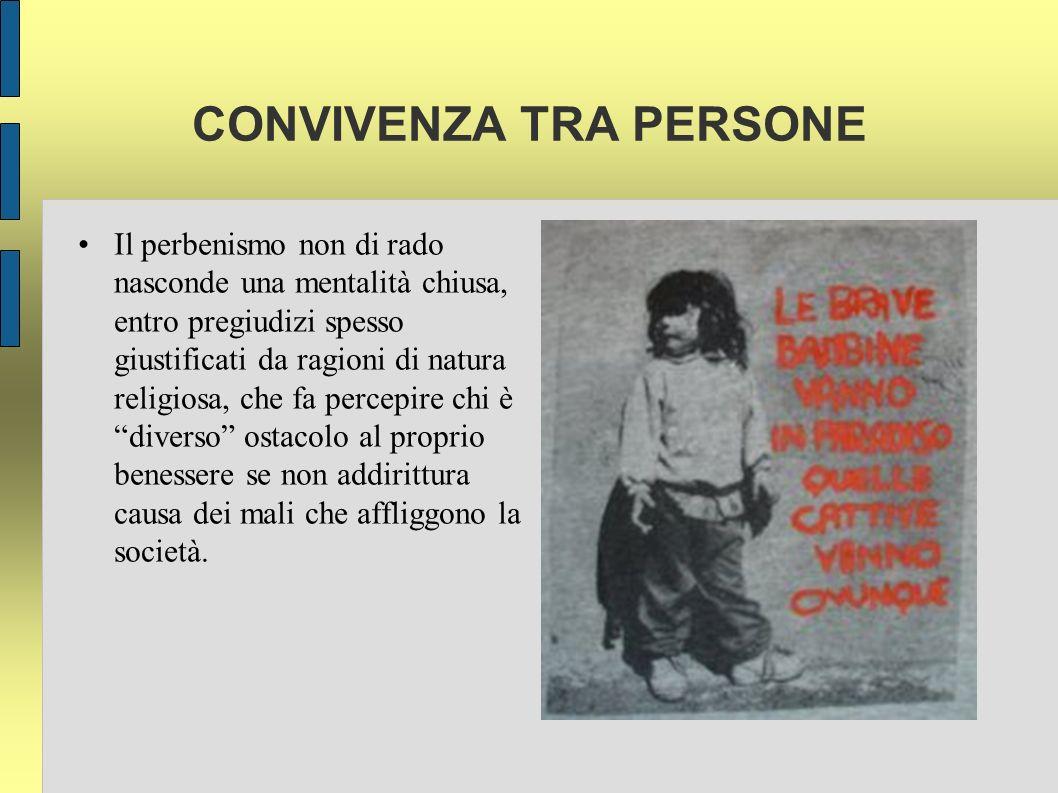 CONVIVENZA TRA PERSONE