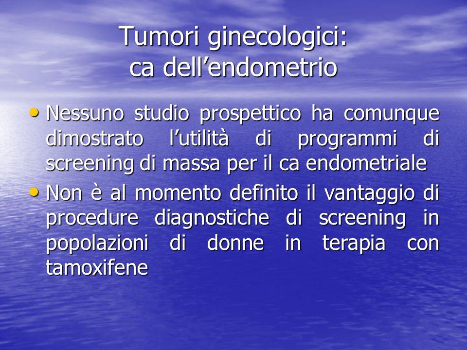 Tumori ginecologici: ca dell'endometrio