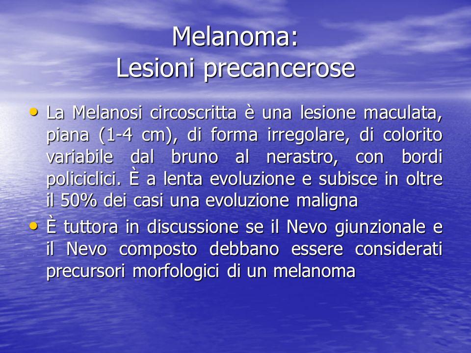 Melanoma: Lesioni precancerose