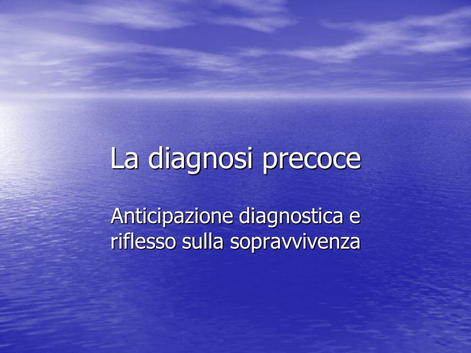 Anticipazione diagnostica e riflesso sulla sopravvivenza