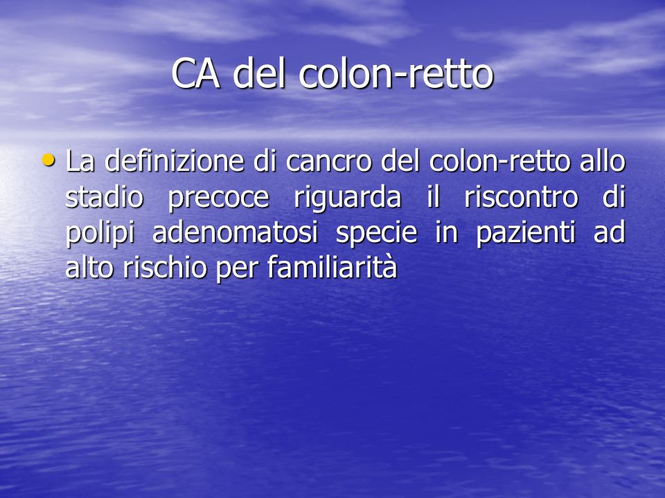 CA del colon-retto