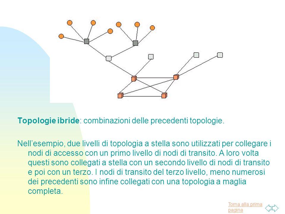 Topologie ibride: combinazioni delle precedenti topologie.