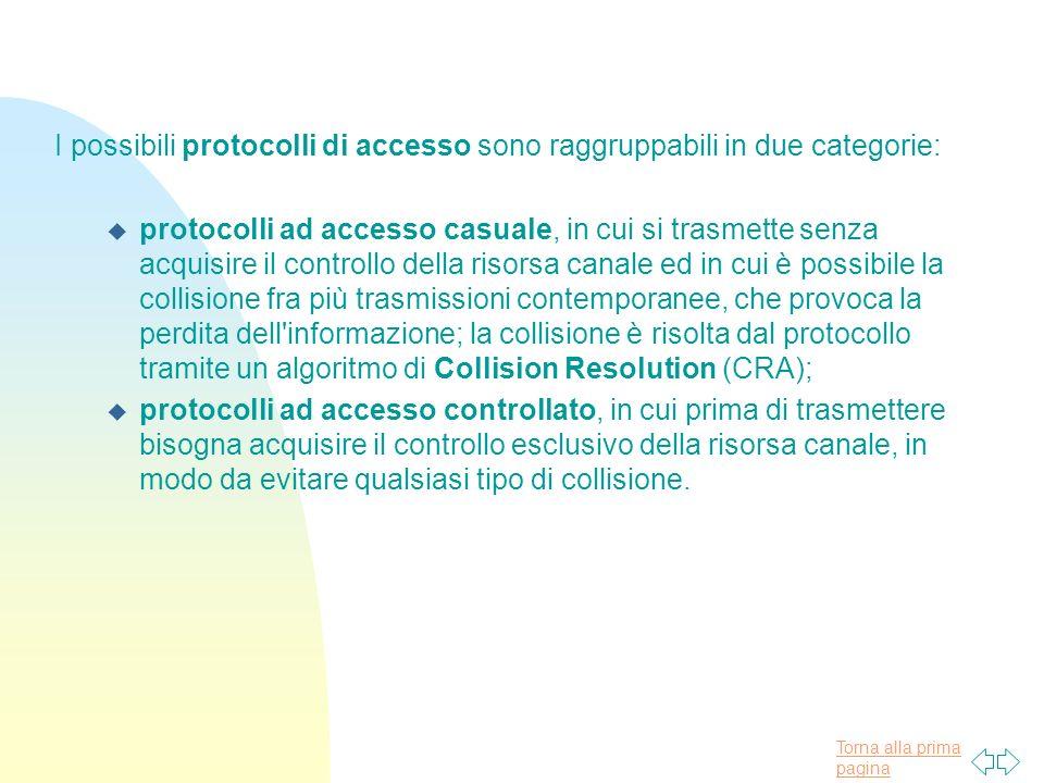 I possibili protocolli di accesso sono raggruppabili in due categorie: