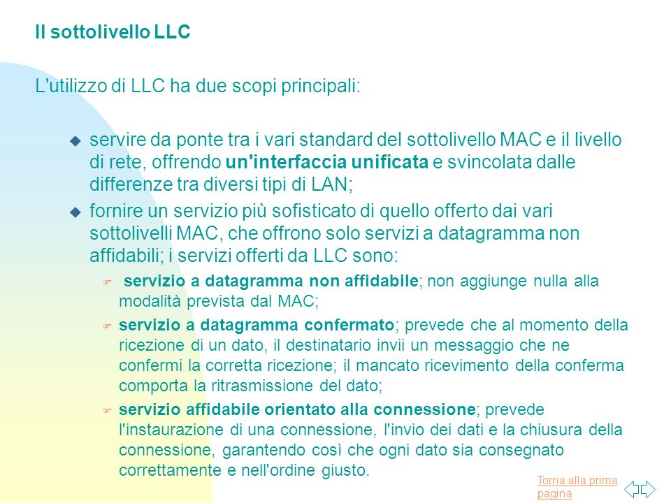 L utilizzo di LLC ha due scopi principali: