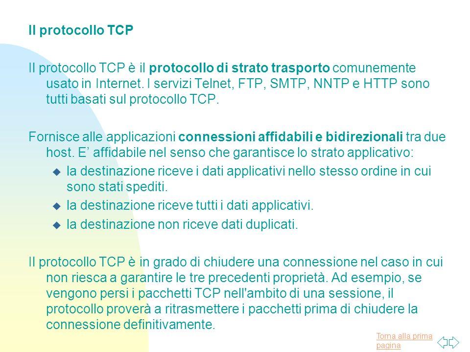 Il protocollo TCP