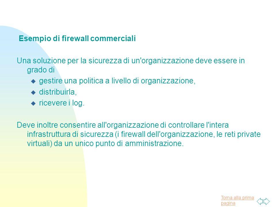 Esempio di firewall commerciali