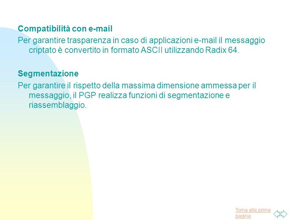 Compatibilità con e-mail