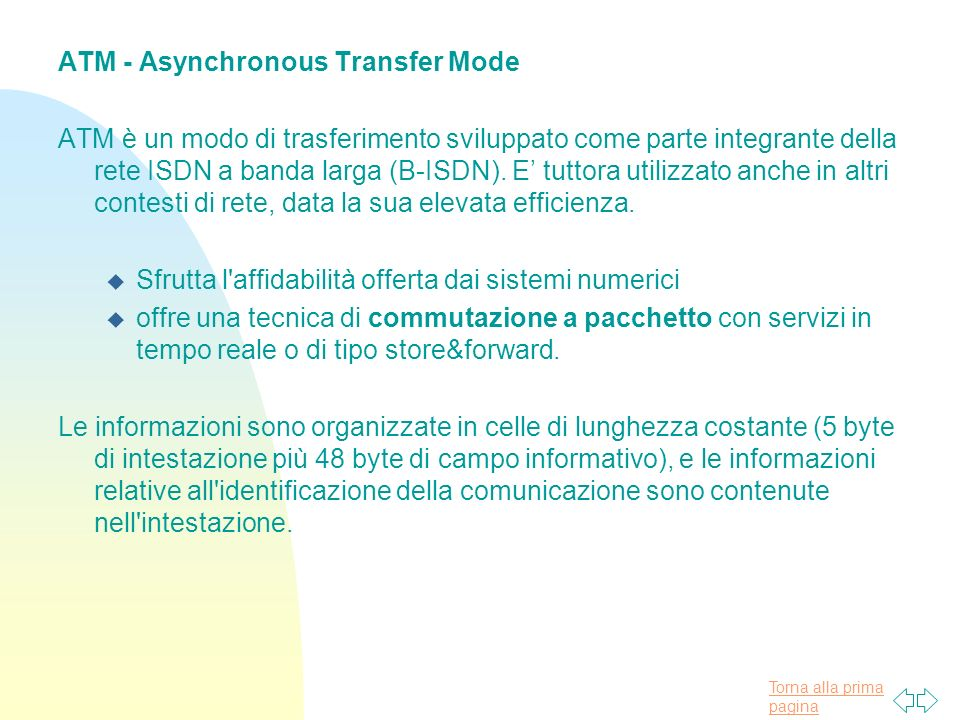 ATM - Asynchronous Transfer Mode