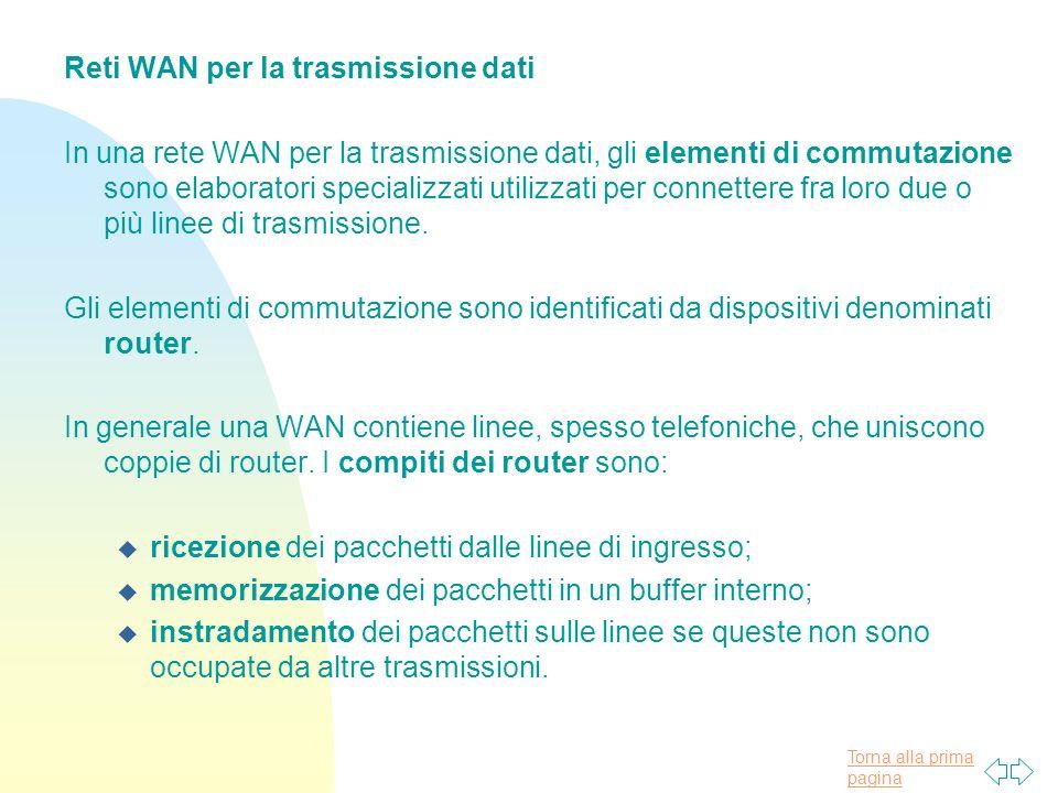 Reti WAN per la trasmissione dati