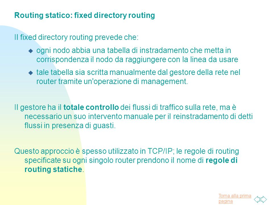 Routing statico: fixed directory routing