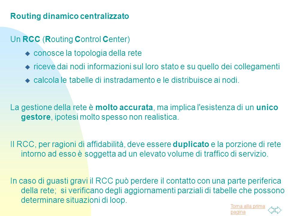 Routing dinamico centralizzato