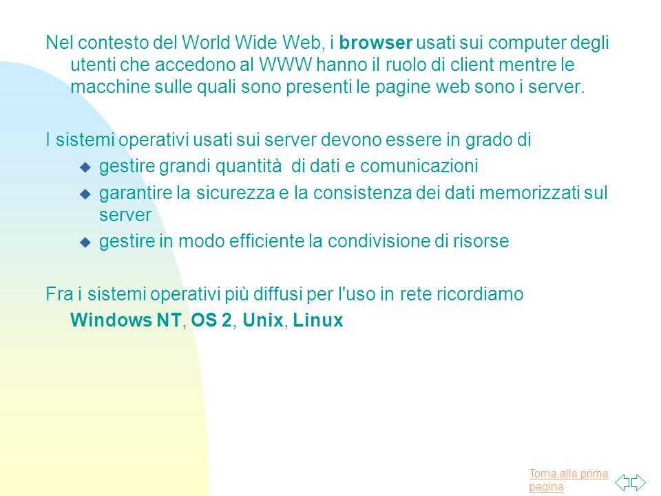 Nel contesto del World Wide Web, i browser usati sui computer degli utenti che accedono al WWW hanno il ruolo di client mentre le macchine sulle quali sono presenti le pagine web sono i server.