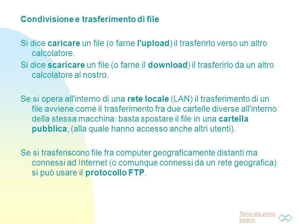 Condivisione e trasferimento di file