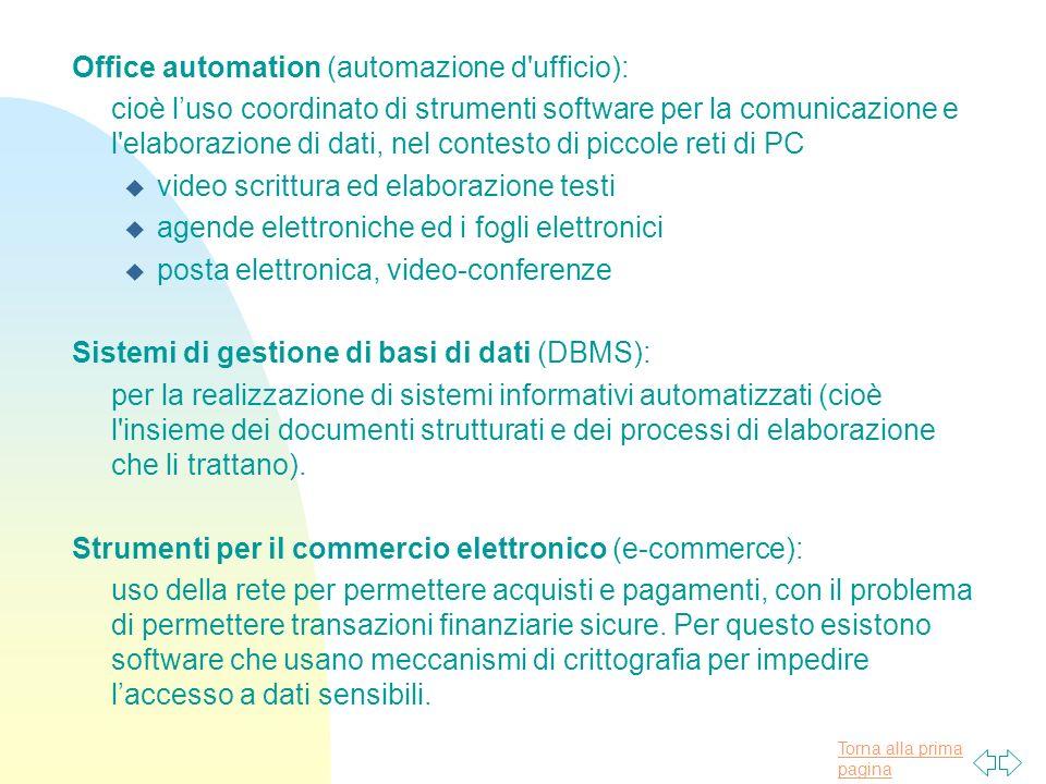 Office automation (automazione d ufficio):