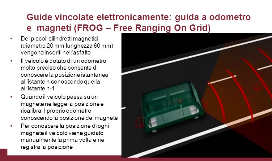 Guide vincolate elettronicamente: guida a odometro e magneti (FROG – Free Ranging On Grid)