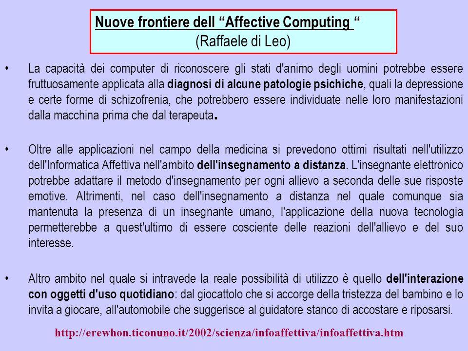 Nuove frontiere dell Affective Computing (Raffaele di Leo)