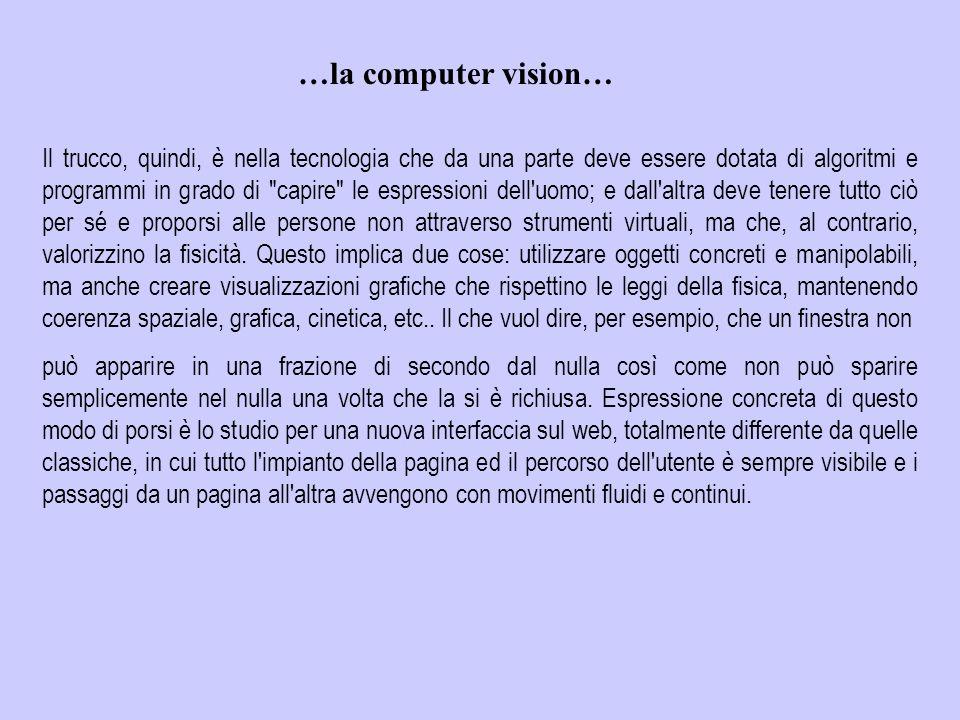 …la computer vision…