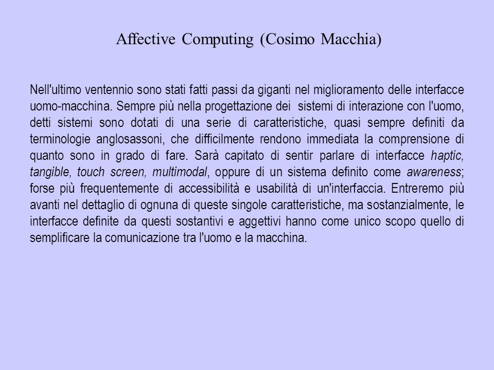 Affective Computing (Cosimo Macchia)