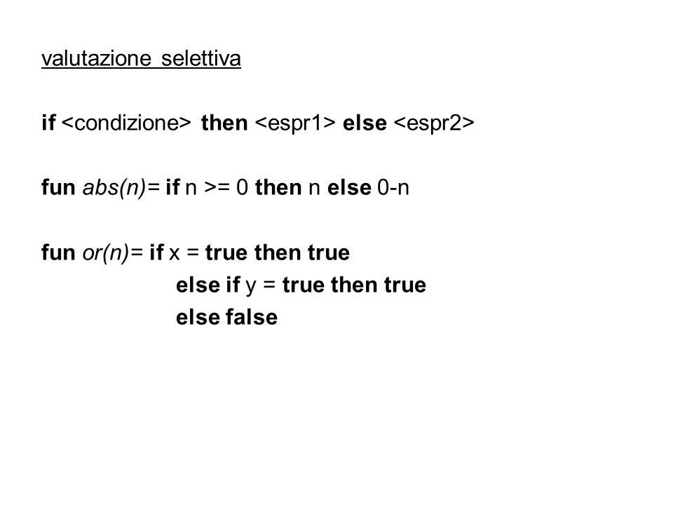 valutazione selettiva