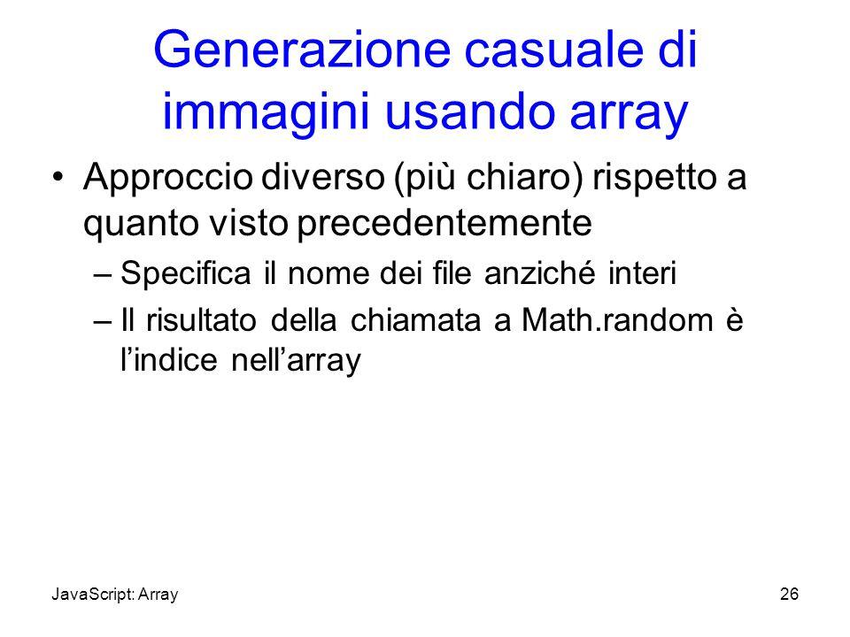 Generazione casuale di immagini usando array