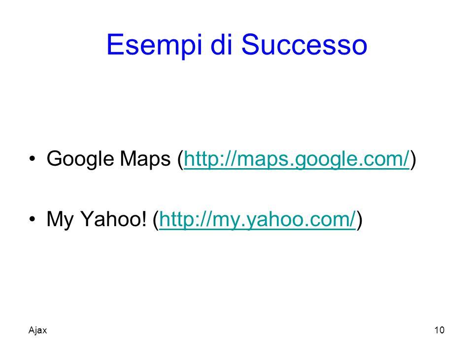 Esempi di Successo Google Maps (http://maps.google.com/)