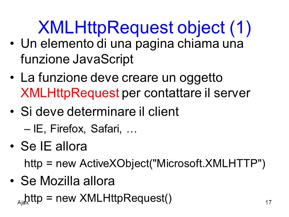 XMLHttpRequest object (1)