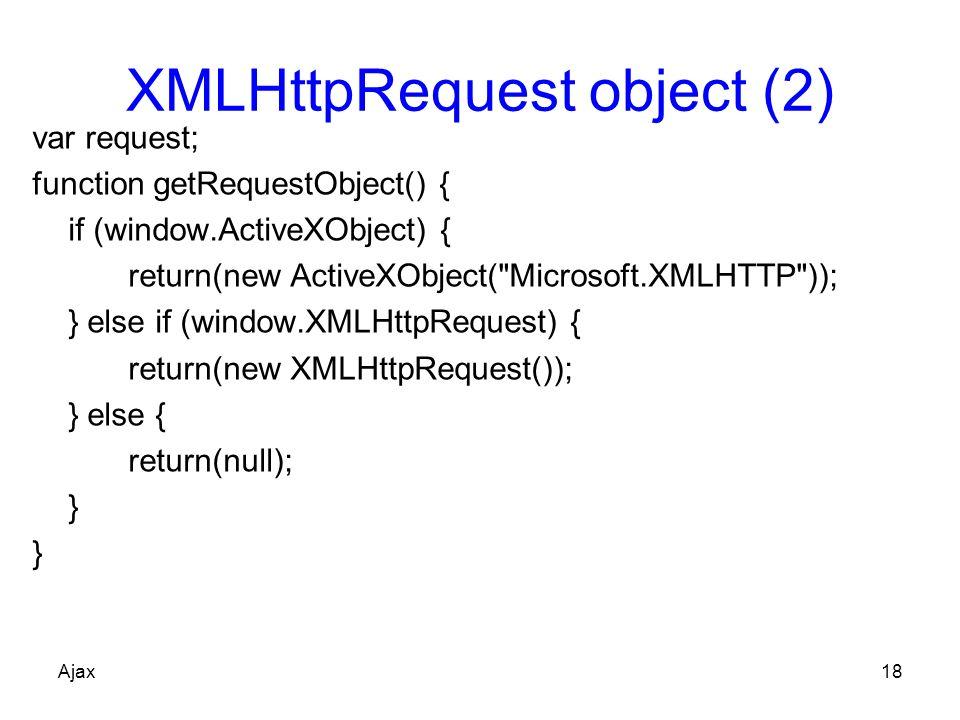 XMLHttpRequest object (2)