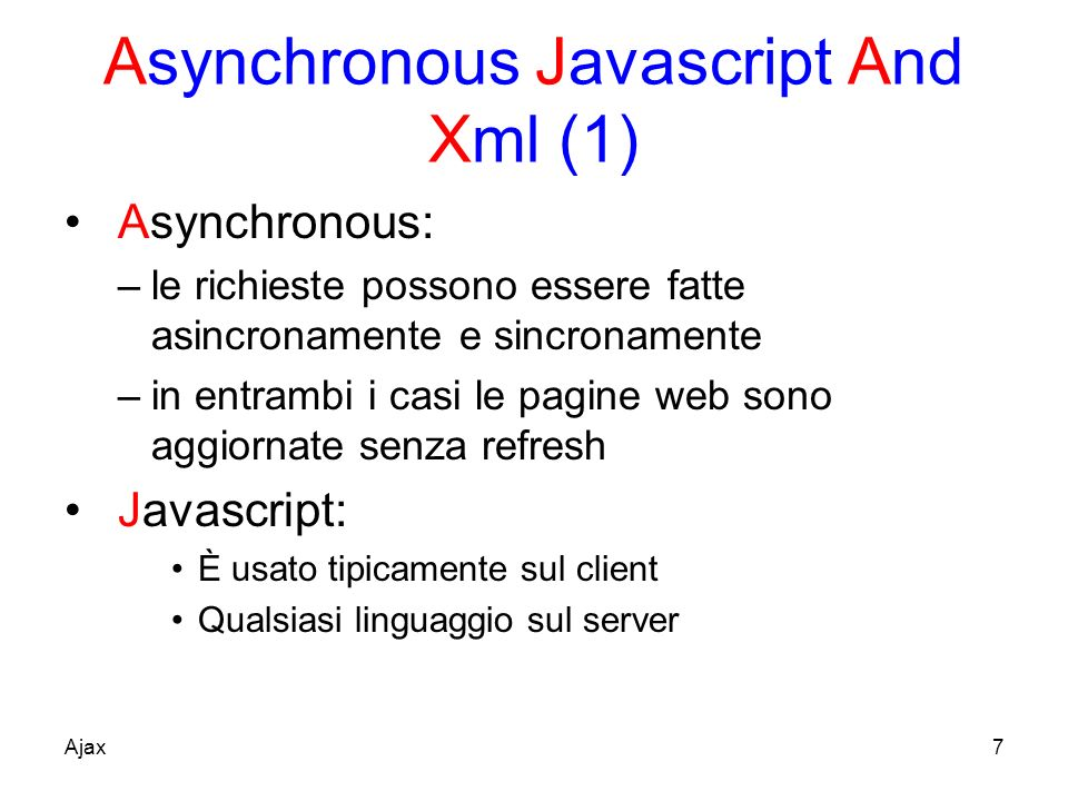 Asynchronous Javascript And Xml (1)