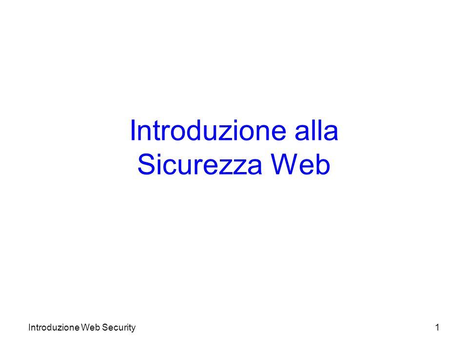 Introduzione alla Sicurezza Web