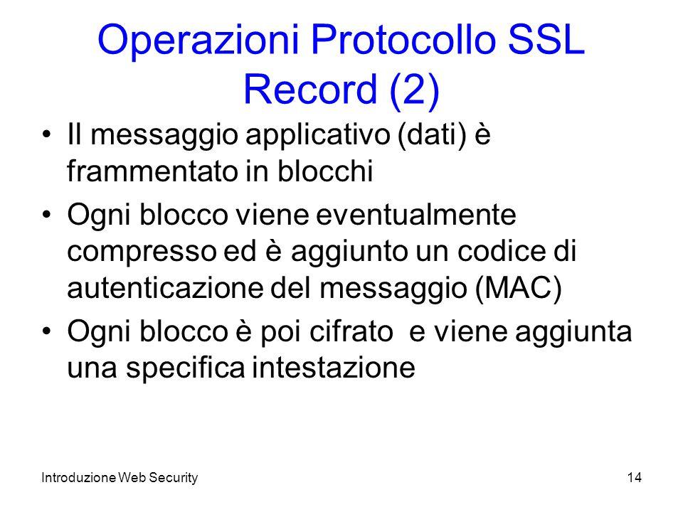 Operazioni Protocollo SSL Record (2)