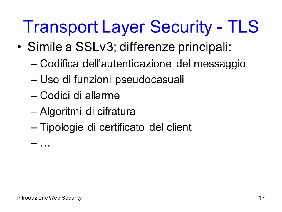 Transport Layer Security - TLS