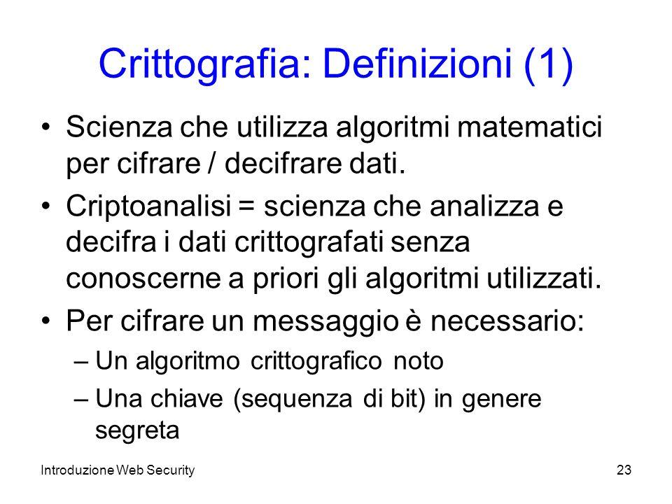Crittografia: Definizioni (1)