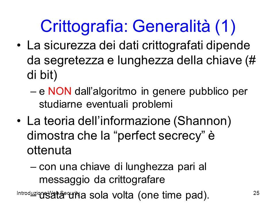 Crittografia: Generalità (1)