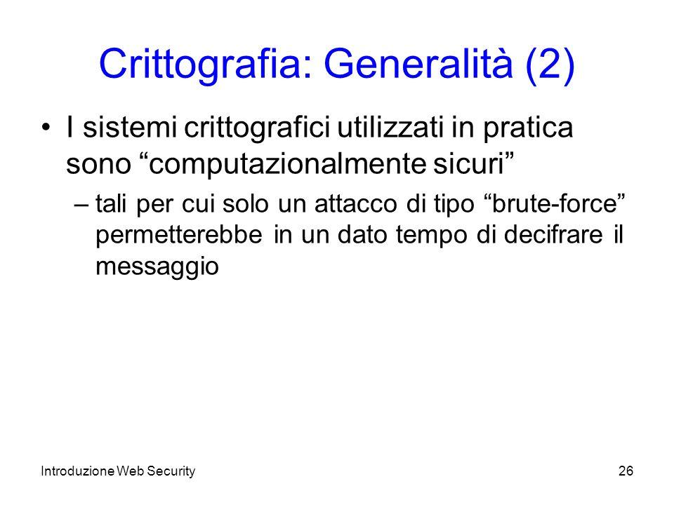 Crittografia: Generalità (2)