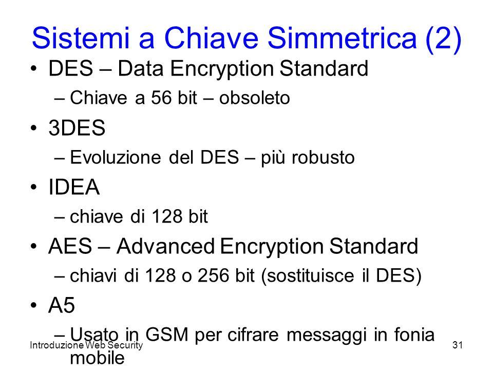 Sistemi a Chiave Simmetrica (2)